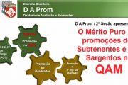O Mérito Puro nas promoções dos S Ten e Sgt no QAM